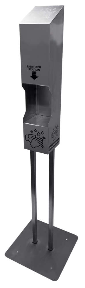 Permanent Outdoor Dispenser Stand